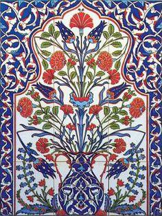 Hand painted Iznik Turkish Tiles and Tile Panels Tile Murals, Tile Art, Mosaic Art, Turkish Art, Turkish Tiles, Turkish Design, Turkish Rugs, Islamic Art Pattern, Pattern Art