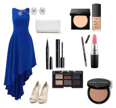 """""""Premier"""" by sydney603 ❤ liked on Polyvore featuring Halston Heritage, Nly Shoes, GUESS, MAC Cosmetics, NARS Cosmetics, Bobbi Brown Cosmetics, Sigma Beauty, Marc Jacobs and Chanel"""