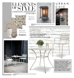 Patio by cruzeirodotejo on Polyvore featuring interior, interiors, interior design, home, home decor, interior decorating, Lakeview Outdoor Designs, Home Decorators Collection, Brewster Home Fashions and Everlasting Glow