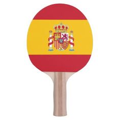 #shovel table tennis Spanish flag Ping Pong Paddle - #country gifts style diy gift ideas