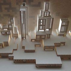 https://flic.kr/p/tSx63u | Modern cityscape for a new series of architecture through time. #papercut #paper #popup #paperart #popupcard #popupology #papershapers #kirigami #kiriorigami #kineticpaper #fold #fedrigoni #eastlondon #foldesign #foldform #elod #elodole #elodberegszaszi