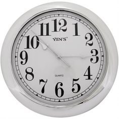 Relógio de Parede Yins YI15041 Prata 30cm - Megazim