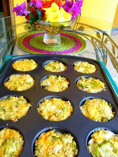 BROCCOLI CHEDDAR QUINOA ROUNDS     These are gorgeous to serve to company! I loved these and the texture is marvelous. What a...