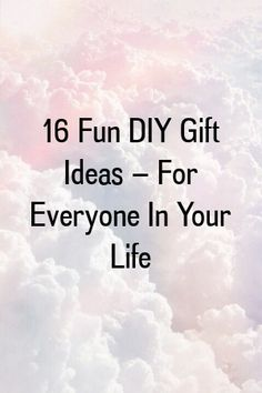 16 Fun DIY Gift Ideas – For Everyone In Your Life by diysense. Simple Diy, Easy Diy, Fun Diy, For Everyone, Gift Ideas, Gifts, Presents, Fun Crafts To Do, Favors