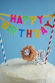 Carnival Cake Topper DIY   Oh Happy Day!