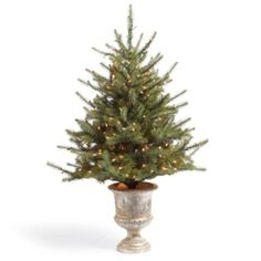 Tabletop Slim Green Spruce Christmas Tree - for the entry way table   #HolidayDecor