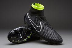 Nike Football Boots - Nike Magista Obra FG - Firm Ground - Soccer Cleats - Black-White-Volt