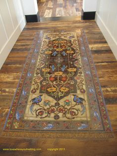 Tile Rug Handmade tiles can be colour coordianated and customized re. shape, texture, pattern, etc. by ceramic design studios