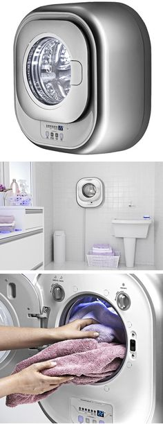 Sem espaço para uma lavadora de roupas? Esta lavadora de roupas Electrolux tem um design super moderno e é projetada para ser acoplada na parede de qualquer cômodo! http://www.colombo.com.br/produto/Eletrodomesticos/Lavadora-de-Roupas-Electrolux-3-Kg-automatica-LFE03
