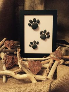 Handmade Pebble Art Paw Prints by MeganMakesDesigns on Etsy