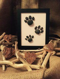 Handmade Pebble Art Paw Prints by MeganMakesDesigns on Etsy