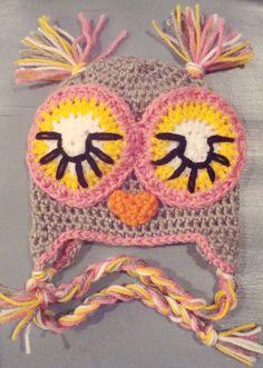 Sleepy Owl. Mia can never have too many adorbs hats. Eeekkk!