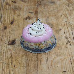 KOKOSKEEK — Ingredienten: 100% Plantaardig vet, raapzaad, lijnzaad, kanariezaad, Franse hennepzaad, milo, hele gepelde haver, maïsgrutten, tarwe, gierst, gebroken erwten, gerst, gemalen oesterschelpen, bloem en ongezoet groentesap. Doorsnede: 9 centimeter. Hoogte: 4 centimeter. Decoratie: Gemalen kokos. Granen, Panna Cotta, Cake, Ethnic Recipes, Desserts, How To Make, Food, Tailgate Desserts, Dulce De Leche