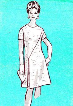 1960s Dress Pattern Anne Adams 4596 Mod Day or by paneenjerez, $16.00