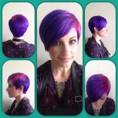 #demaj #demajsalon #coloradosalon #erie #pravana #purplehair #pinkhair #pixie #pixiecut Colorful Hair, Pixie Cut, Purple Hair, Salons, Short Hair Styles, Hair Color, My Style, Fun, Ideas