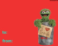 You are trash ♥ – Valentines Day Gift Ideas Cheesy Valentine Cards, Valentines Day Cards Tumblr, Funny Valentines Cards, Valentines Gifts For Boyfriend, Funny Cards, Valentine Gifts, Valentine Nails, Valentine Ideas, Just In Case
