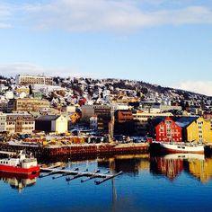 Tromsø, Troms, Norway   ... fishing boats harbour in Tromsø - historic #Arctic town in #Norway