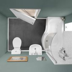 Alton Showerbath Suite (Right Hand) - Small Bathroom Suites - Bathroom Suites