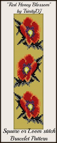 New Square or Loom Stitch Bracelet Pattern. Watch this space for the link next week. Thanks