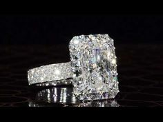 A stunning diamond engagement ring by master jewelry designer, Bez Ambar. At Bez Ambar, our designs are custom made to order to the highest of standards. Leaf Engagement Ring, Classic Engagement Rings, Platinum Engagement Rings, Rose Gold Engagement, Unique Diamond Rings, Diamond Wedding Rings, Halo, Victorian, Youtube