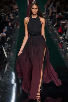 A tribute to Rothko. Take a seat in the first row and enjoy Elie Saab's Fall/Winter collection.] Video: Full-Length Fashion Show Elie Saab Fall/Winter Video: Elie Saab Lace Dresses, Pretty Dresses, Short Dresses, Prom Dresses, Dresses 2014, Dress Prom, Dress Long, Chiffon Dress, Couture Fashion