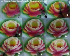Pintura em Tecido, Riscos, Dicas, Materiais e Passo a Passo: Como pintar rosa em tecido passo a passo
