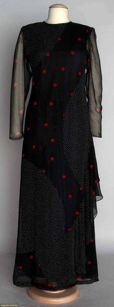 Hanae Mori Evening Dress, 1980s, Augusta Auctions, November 13, 2013 - NYC