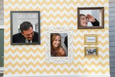 Love these 'build-your-own' Photo Booths! See more of the wedding on http://www.StyleMePretty.com/massachusetts-weddings/plymouth/2014/01/15/plymouth-wedding-at-pinehills-pavilion/ Melissa Deschamp Photography