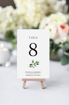 Greenery Table Number, Eucalyptus Wedding Table Number Card Template,Wedding Decor Floral & Greenery, Printable Table Card Printable SWTC113 #printabletablecard #tablenumbercard #seatingtable #printabletablecard #weddingtablecard #tablecardtemplate #weddingreception #tablenumbertemplat #seatingplan #tabledecor #floraltablenumber #greenerytablecards #greenerywedding #rustictablecards #modernwedding  #weddingdecorations #weddingplanning #weddinginspiration #floralwedding #seatingcharttempla Card Table Wedding, Wedding Table Numbers, Corporative Events, Eucalyptus Wedding, Wedding Decorations, Table Decorations, Wedding Templates, Table Cards, Wedding Programs