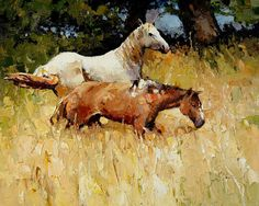 Horses in the high grass - Alexi Zaitsev
