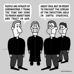 The Time Has Come To Preach About Hope And Trust In God – Cartoon Theology Christian Cartoons, Christian Humor, Church Humor, Trust God, Boho, Memes, Tractors, Meme, Bohemian