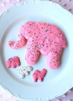 homemade animal crackers. Every few years I go on an animal cracker binge and buy one of those big pink bags full of them and eat them like crazy for about a week or so and then I get sick of them and can't eat them again for years.