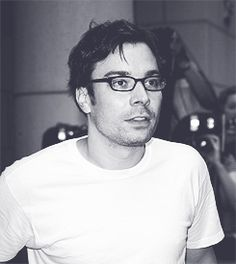 Jimmy Fallon with glasses (: before his lasik surgery. #HOTNESS  He would look good in a potato sack.