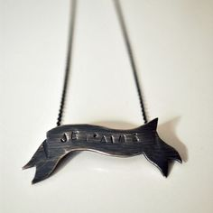 The Angry Weather on Etsy... I just love this banner necklace!  $60