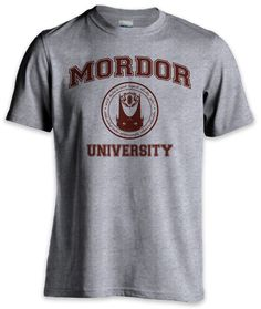 """UM HECK YES! In the ring it says in elvish, """"One does not graduate from Mordor!"""""""