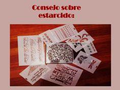 Consejo estarcido by Caridad Yáñez Barrio - Mano a Mano con Cari via slideshare