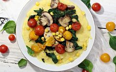 <p>This recipe for creamy, cheesy polenta is both filling and flavorful, with plenty of vegetables!</p>