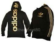 Adidas gold and black jacket