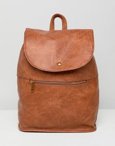 d79b255350b7 ASOS DESIGN soft backpack with zip detail Fashion Online