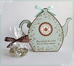 Bettys-creations: Teekanne mit Vorlage