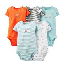 5Pcs Baby Rompers Summer Baby Girl Clothes 2017 Baby Boys Clothing Sets Cute Newborn Baby Clothes Roupas Bebe Infant Jumpsuit
