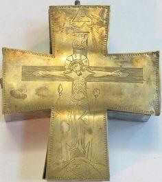 Крест-дарохранительница, Россия, конец 19 в., латунь, частное собрание