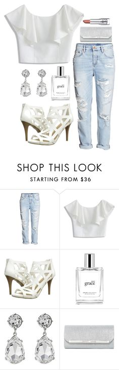 """Classy Boyfriend Jeans"" by jilld727 ❤ liked on Polyvore featuring Chicwish, Fergalicious, philosophy, Kenneth Jay Lane and Natasha Accessories"