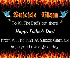 Happy Father's Day! Need a last minute gift? We also sell gift vouchers! - Suicide Glam Australia https://www.facebook.com/suicideglamaustralia