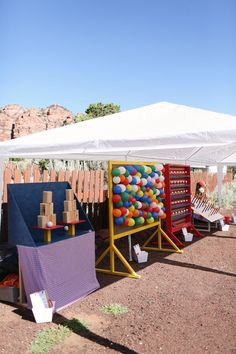 Country Fair style lawn games! #wedding #lawngames Real Wedding // A Carnival Of Colours In The Desert // Photographer - Gideon Photography.