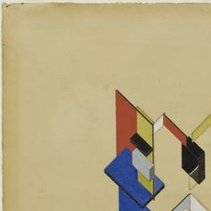 Theo van Doesburg (Christian Emil Marie Küpper), Cornelis van Eesteren. Contra-Construction Project , Axonometric. 1923 | MoMA