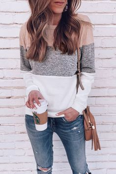 casual fall outfits that will make you look cool 3 Style Outfits, Fall Fashion Outfits, Look Fashion, Autumn Fashion, Cute Outfits, Casual Women's Fashion, Woman Fashion, Fashion Style Women, Fashion Dresses