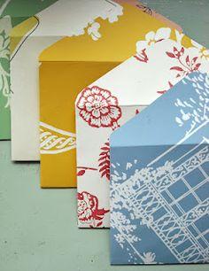 Pretty Handmade Envelopes from scrapbook paper or wallpaper samples