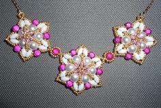 Fuchsia Fantasy Necklace Beading Video Tutorial by Ezeebeady by Ezeebeady