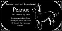 Personalized Chihuahua Pet Dog Memorial 12x6 Engraved Black Granite Grave Marker Head Stone Plaque PEA1 *** To view further for this item, visit the image link. This is an Amazon Affiliate links.